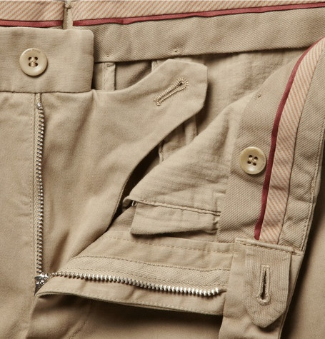Loro PianaSlim-Fit Brushed-Cotton Trousers