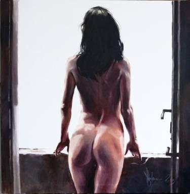 """Saatchi Art Artist Igor Shulman; Painting, """"Old balkon"""" #oilpainting #shulman #shulmanart    #contemporaryart #fineart #eroticart"""