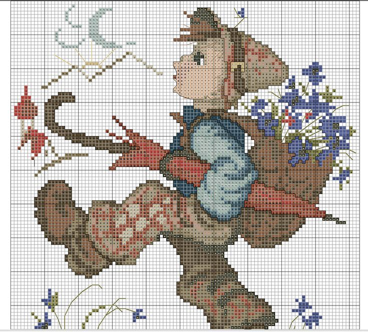 """Globetrotter"" Hummel cross stitch pattern, 2A"