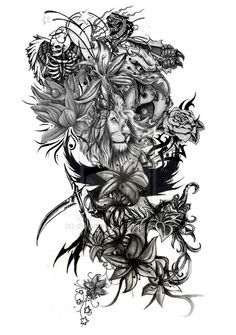 Lion Tattoo Sleeves on Pinterest | Lion Tattoo Girls, Lion Tattoo and ...