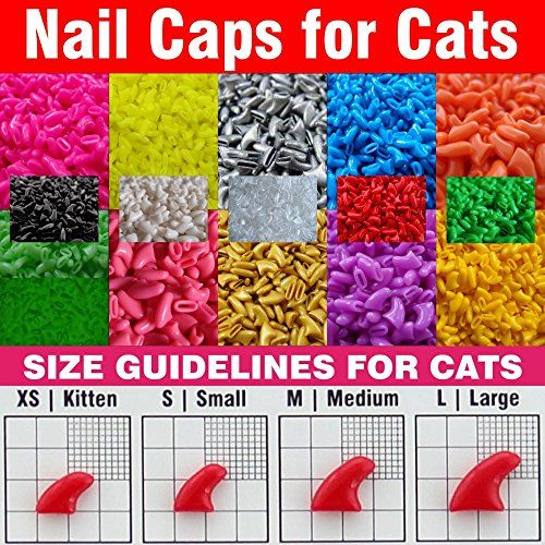 120pcs - Soft Nail Caps for Cats + 6x Adhesive Glue + 6x Applicator /* XS, S, M, L, paw, claw, cover, lot, cat */ choose color and size leave a message None http://www.amazon.com/dp/B01BQKDDS8/ref=cm_sw_r_pi_dp_AEp5wb14SR867
