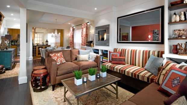 Candace Olsen.  Seriously, how does she DO this?!Living Rooms, Living Spaces, Living Room Design, Livingroom, Interiors Design, Olson Living, Colors Schemes, Olson Design, Candice Olson