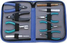 BEADER'S TOOL KIT  9 Tools in a Carry Case Leatherette by Forgeron, $59.50
