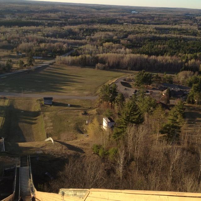 Top of Pine Mountain Ski Jump. Absolutely gorgeous view