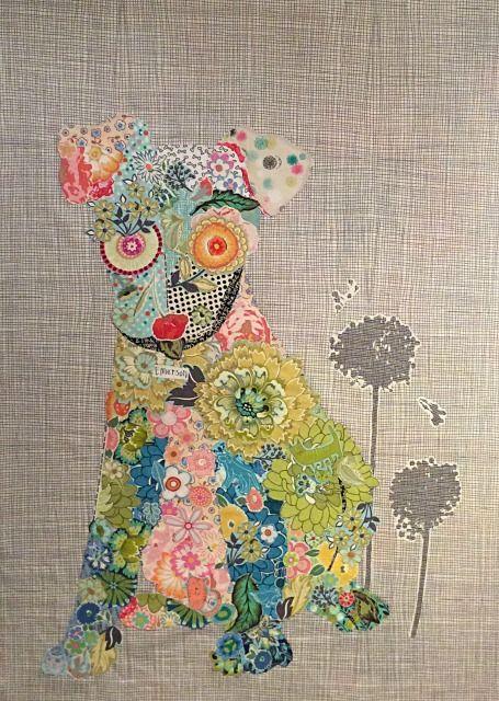 Emerson Puppy Collage Quilt Pattern by Laura Heine