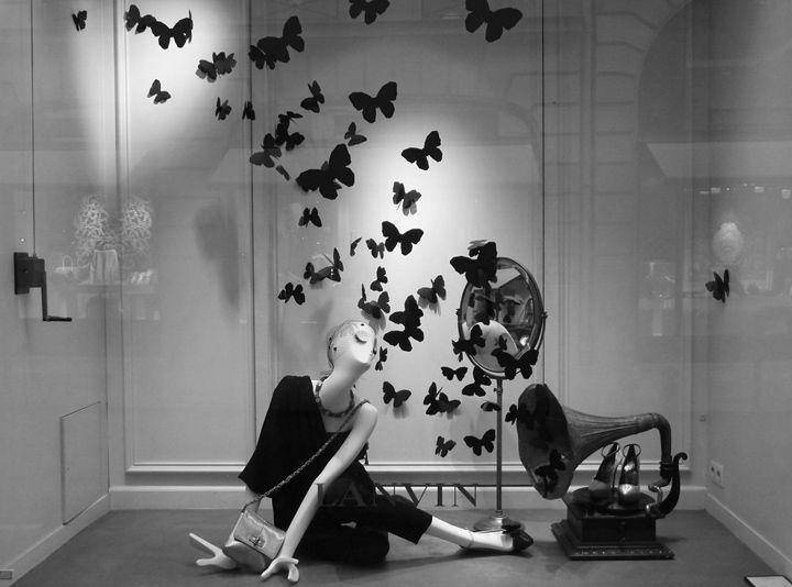 Lanvin butterflies windows, Paris
