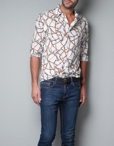 Chain Printed Shirt - Shirts - Man - ZARA United States
