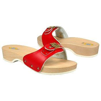 These were so cool in the 70s! Dr. Scholl's - we clomped down the street in these