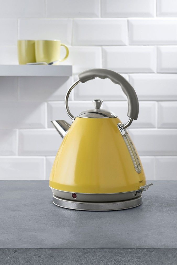 Next Pyramid Kettle Yellow In 2020 Kettle Ceramic Jars Buy Marbles