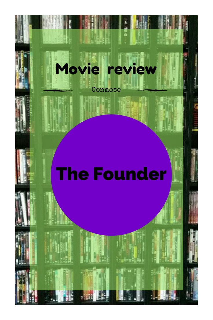 Here's our movie review of the Founder!