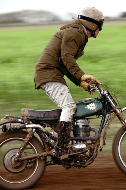 Throw on a pair of boots, fire up my WWII motor-bicycle and cruise around some muddy paths near paradisian fields. :-)