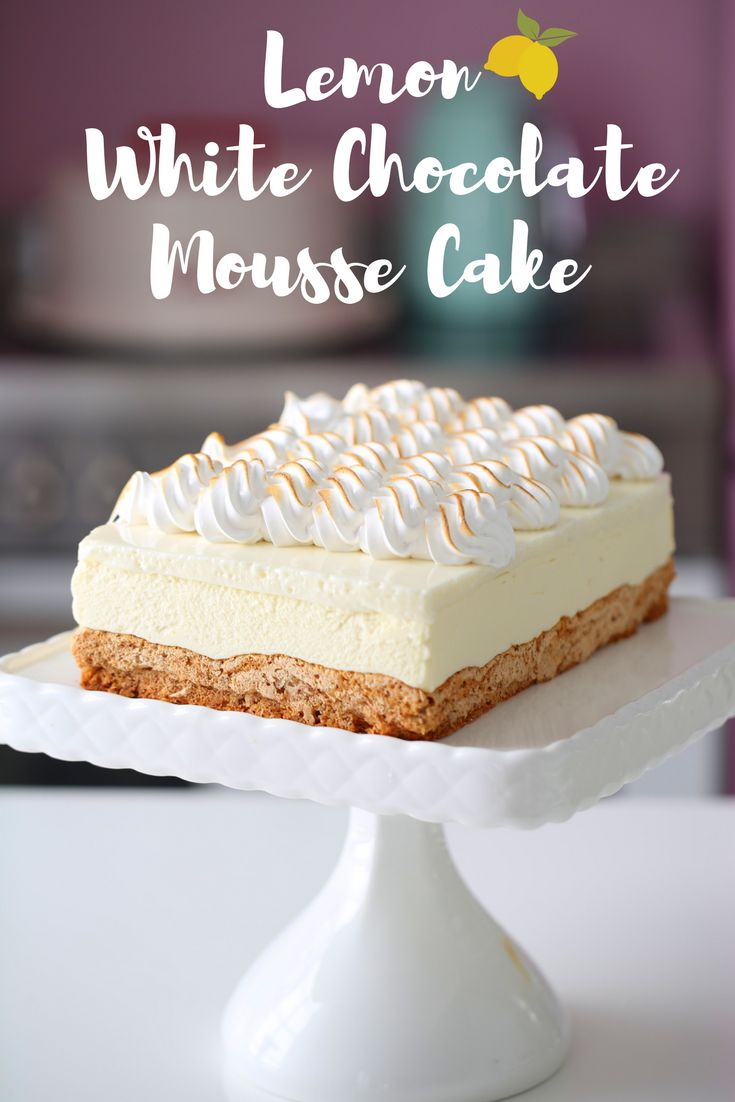 If you like lemons, you will love this Lemon & White Chocolate Mousse Cake | INSPIRED home