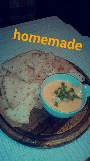 cheddar #cheddarsauce #baked #tortillachips #homemade