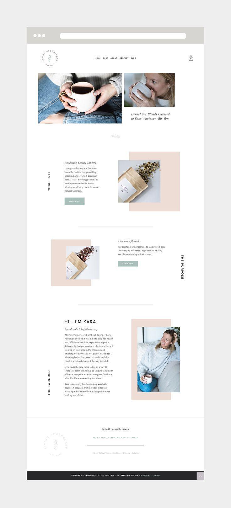 Stunning Website Design By Danielle Joseph Function Creative Co For A Handmade Herbal Tea Brand Wel Simple Web Design Web Development Design Web Design Tips