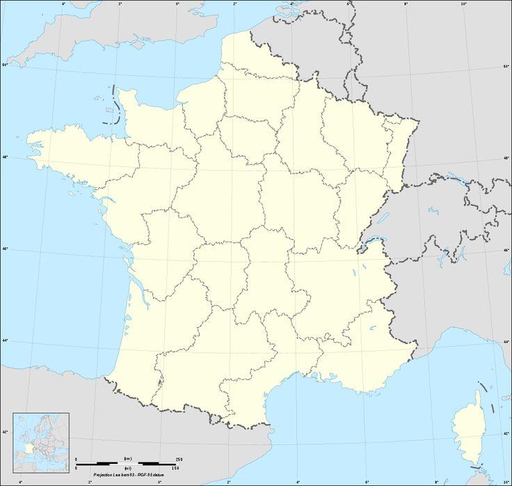 Fond de carte de France administrative