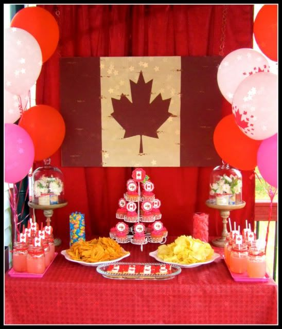 Loved finding some Canada Day party inspiration