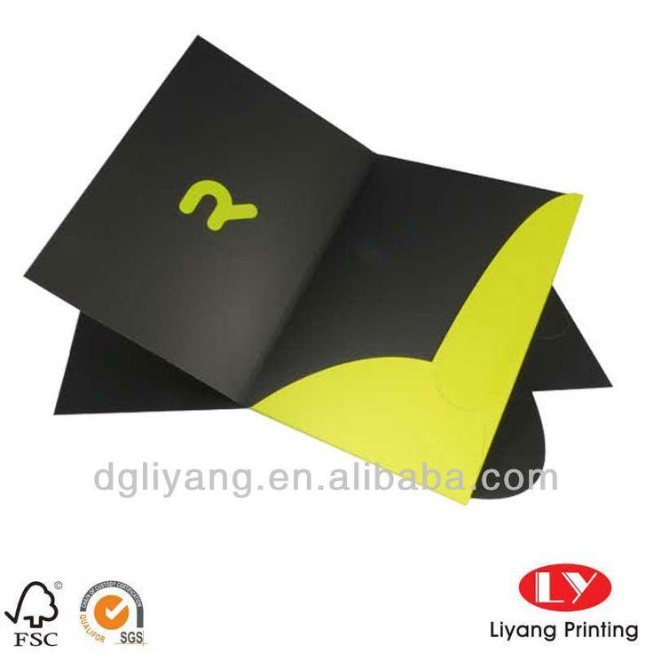 A4 Pocket Paper Folder with Custom Design $0.2~$0.7