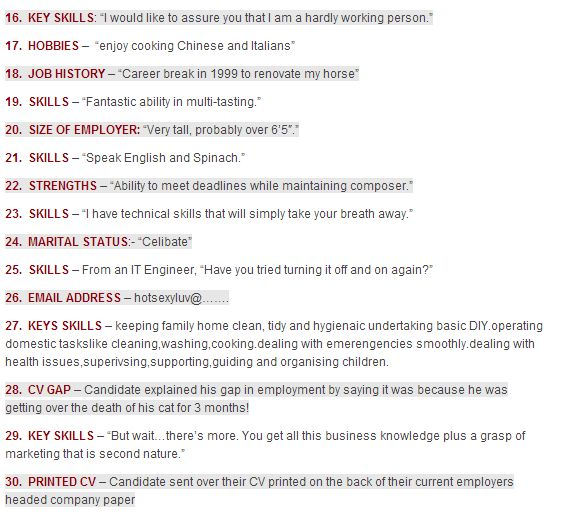 33 best CV Clangers images on Pinterest Resume - resume mistakes