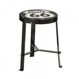 Retro Style Route 66 Kitchen bar Stool for boys bedroom or man cave bar stool
