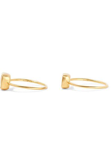 Pippa Small - Set Of Two 18-karat Gold Opal Rings - M 1/2