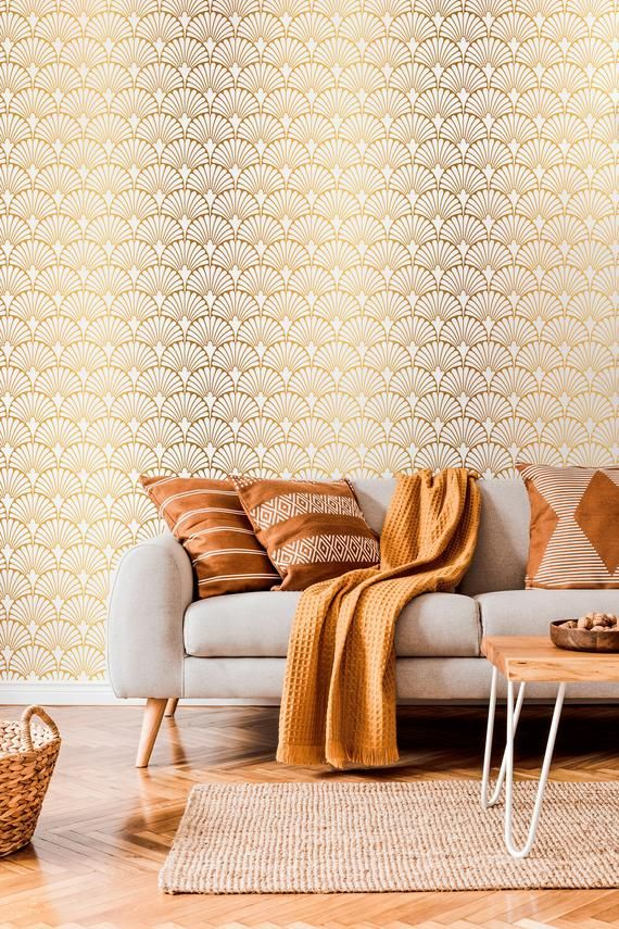 Removable Wallpaper Peel And Stick Wallpaper Wall Paper Wall Etsy In 2021 Removable Wallpaper Wall Wallpaper Gold Wallpaper
