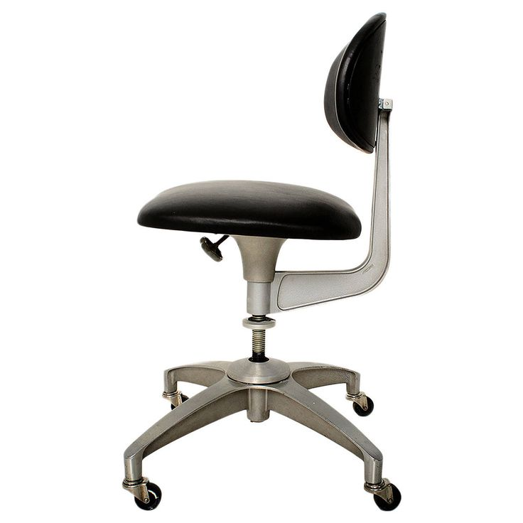 aluminum u0026 leather industrial office chair