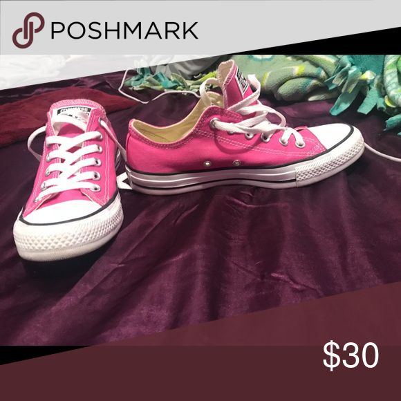 6eaaa1b1ca2ae Pair of pink converse all star low top sneakers Basically new only worn  once. Converse Shoes Sneakers