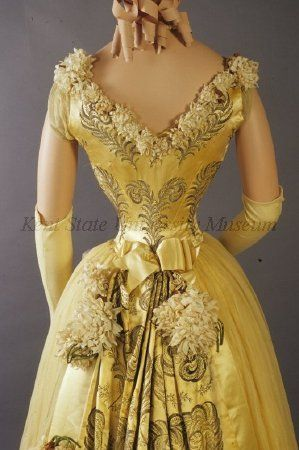 Old Rags - Evening dress, ca 1892 Paris, Kent State
