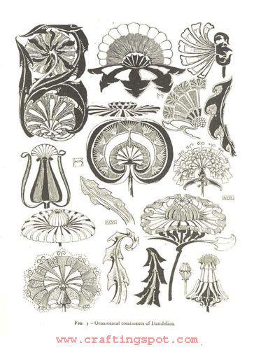 Photos motifs floraux art nouveau