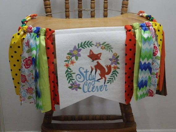 Highchair banner-garland Birthday banner-garland Wild with