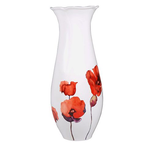 This fine bone china Poppy Vase is handmade in Englan. Show off your favourite flowers to exquisite perfection in this beautiful vase decorated with British artist Anna Benhams striking poppy design. View online: http://www.english-heritageshop.org.uk/homewares/poppy-vase