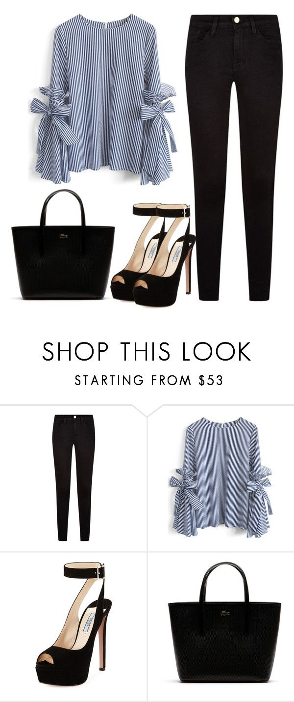 """She got her own"" by meli3108 ❤ liked on Polyvore featuring Frame, Chicwish, Prada and Lacoste"