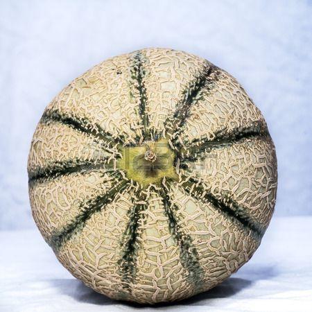 Close up of green ripe cantaloupe melon.