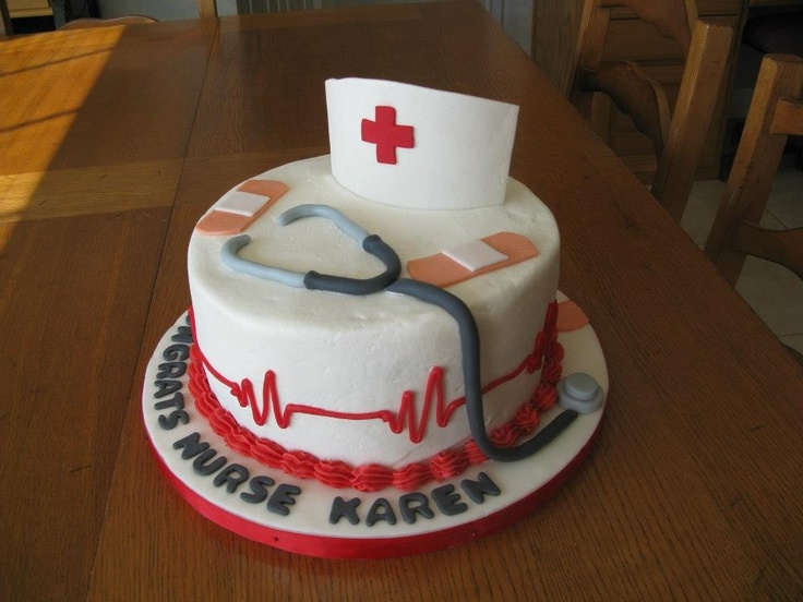 Cake Decorations For Nurses : Nurse cake Cakes my mommy makes! Pinterest Nurse ...