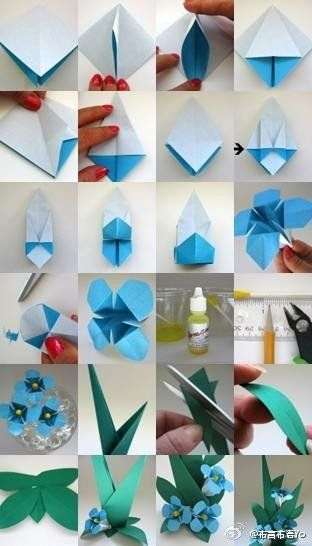 origami flower step by step