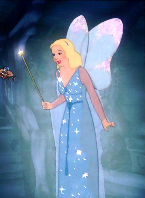 "The Blue Fairy in ""Pinocchio""."