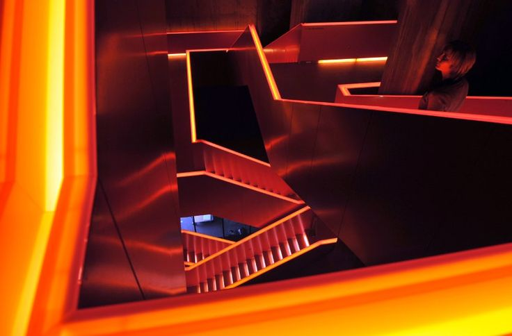 A staircase in the Essen's Ruhr Museum, which Koolhaas helped convert from a coal-washing plant