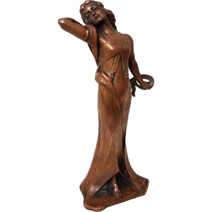 Art Nouveau Figure Diana Goddess of the Hunt Copper Patina Numbered SOLD