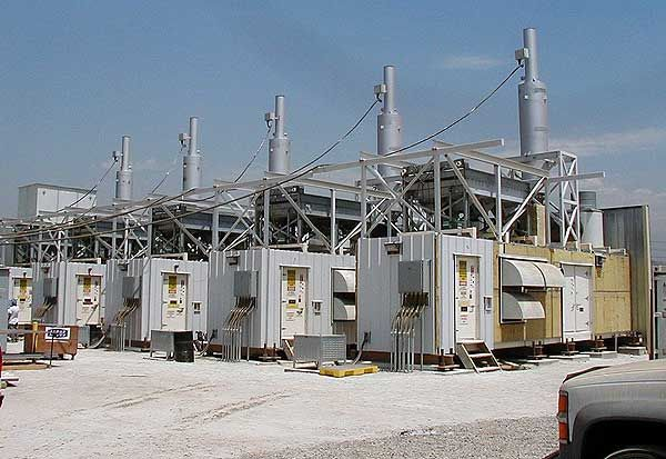 Industrial Mufflers Installed at a Power Generation Facility - dB Noise Reduction