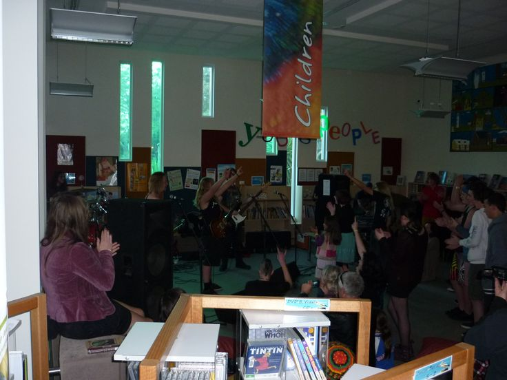 """Kiama Library reverberated with sound on the final day of Drug Action Week as it hosted """"Live in the Library,"""" featuring three local metal bands """"Blue Rock,"""" """"Torch the Village"""" and """"The Dirty Headbangers."""" Organized entirely by local youth and the Kiama Youth Centre as part of a recent event management program, the afternoon drew almost fifty kids to the library who enjoyed an alcohol-free afternoon of entertainment."""