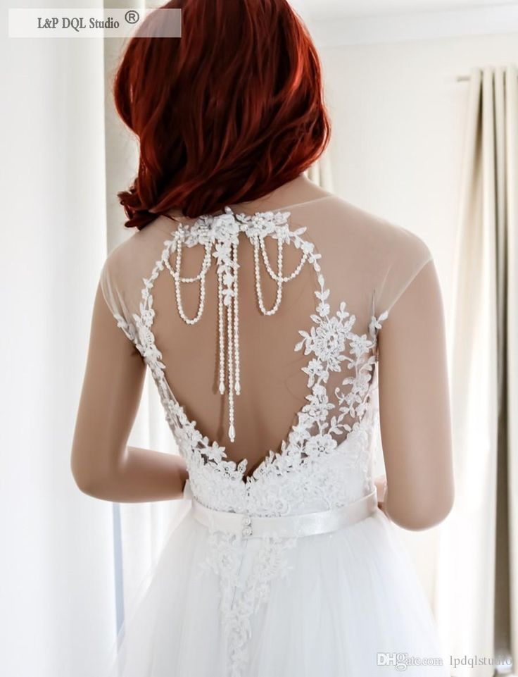 Off White Wedding Dress Soft Pleats Tulle Sheer with Embroidery Applique Beads Sweep Train Bridal Gowns Wedding Dresses Wedding Dress Vestido De Novia Online with $169.0/Piece on Lpdqlstudio's Store | DHgate.com