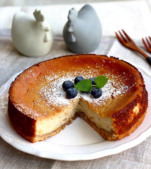 Vegan Cheesecakae with Yuzu Lemon Jam  #Cheesecake #Vegan