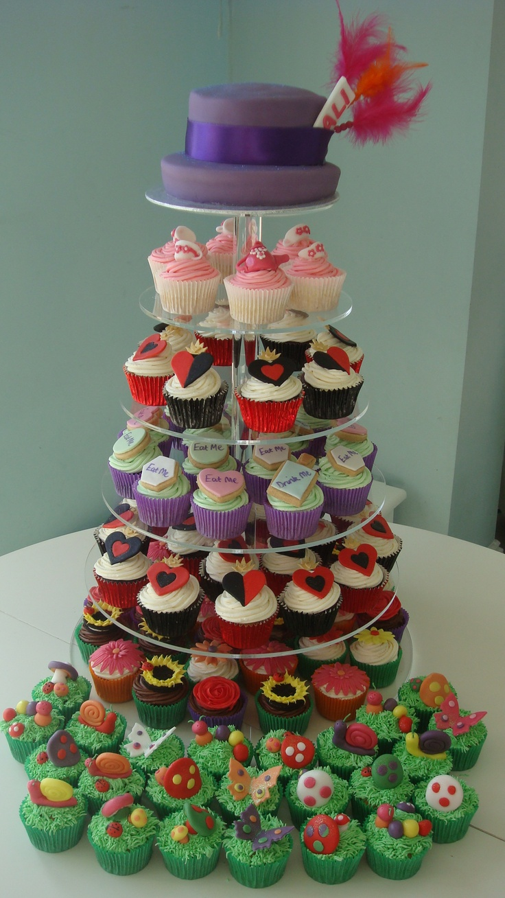 mad hatter cupcakes - photo #4