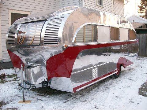 Vintage trailer restoration,1947 Aero Flite camping trailer.