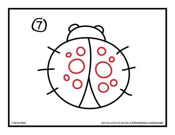 Ladybug drawings for kids - photo#52