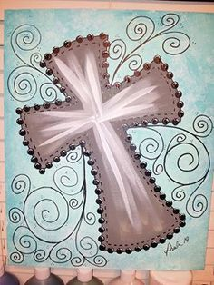Cross Canvas Paintings on Pinterest | Hand Painted Crosses ...