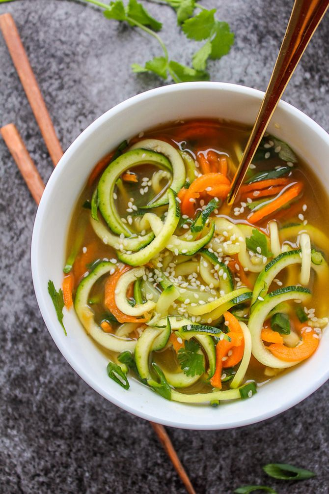 Miso Soup with Vegetable Noodles