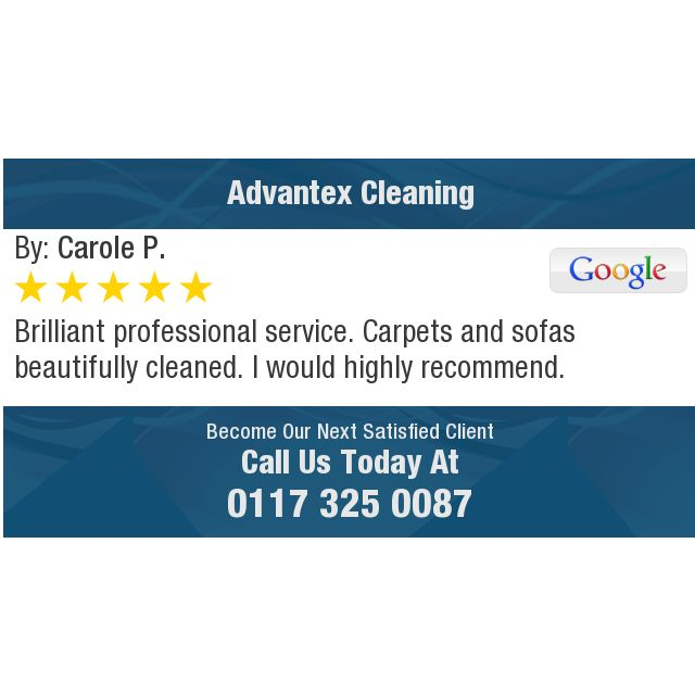 Brilliant professional service. Carpets and sofas beautifully cleaned. I would highly...