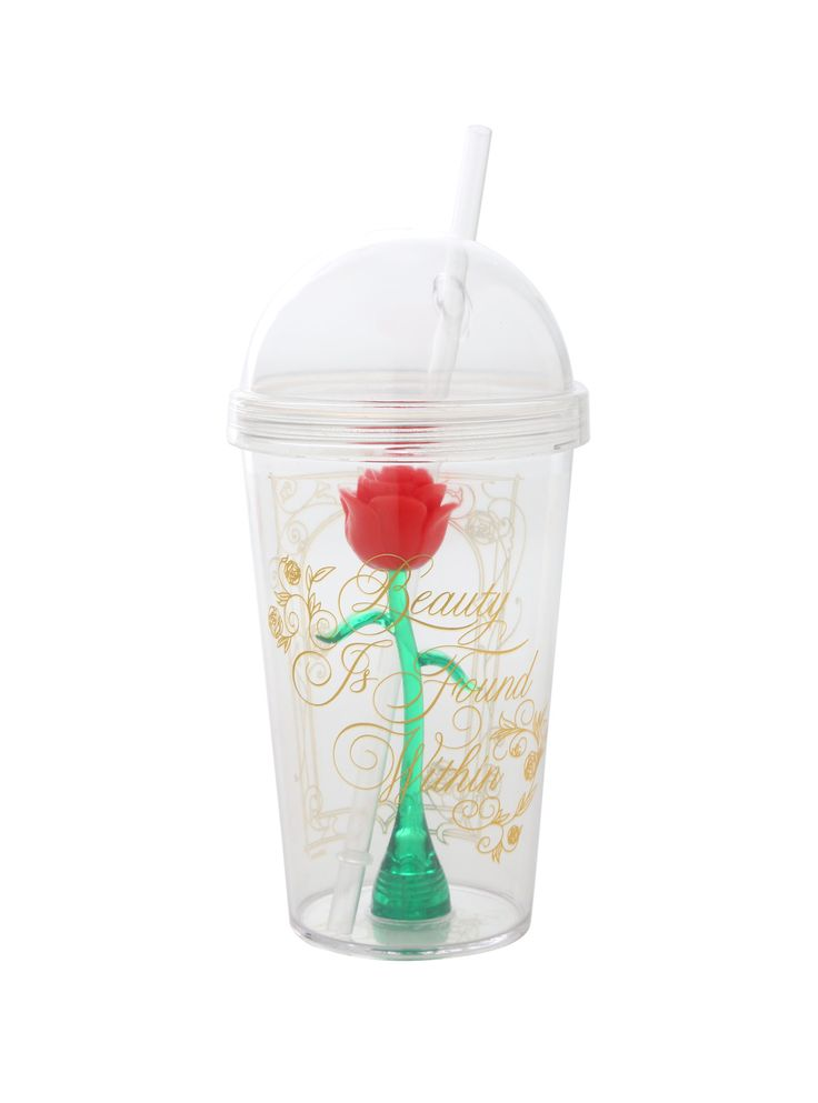 Beauty is found within // Disney Beauty And The Beast Enchanted Rose Acrylic Travel Cup