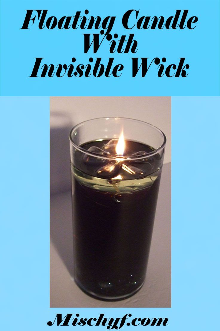 how to make a beautiful invisible floating candle mischyf blogs rh pinterest com